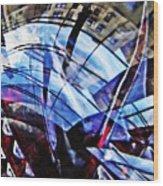 Glass Abstract 219 Wood Print
