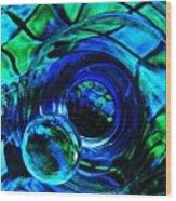 Glass Abstract 226 Wood Print by Sarah Loft