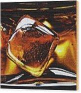 Glass Abstract 317 Wood Print