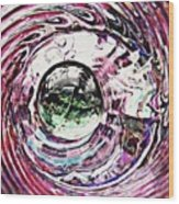 Glass Abstract 515 Wood Print