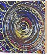 Glass Abstract 587 Wood Print