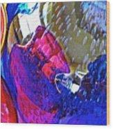 Glass Abstract 609 Wood Print