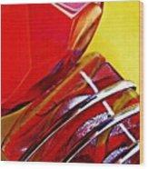Glass Abstract 649 Wood Print