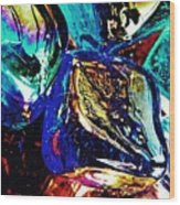 Glass Abstract 687 Wood Print