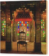 Glass And Mirror Room City Palace Udaipur Wood Print