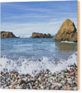 Glass Beach, Fort Bragg California Wood Print