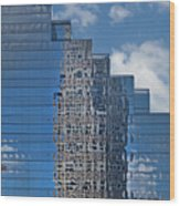 Glass Building Reflections Wood Print