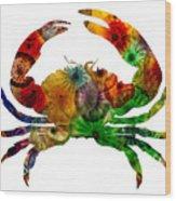 Glass Crab Wood Print