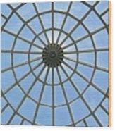 Glass Dome At Hall Of Liberation At Kelheim  Wood Print by Lori Seaman