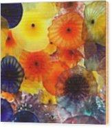 Glass Flowers Wood Print