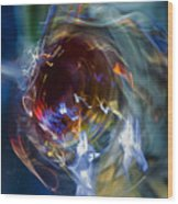Glass In Motion Wood Print by Marion McCristall
