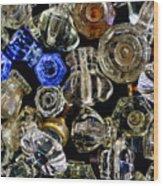 Glass Knobs Wood Print