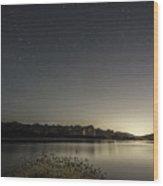 Glass Lake Wood Print