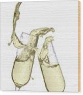 Glasses Of Champagne Wood Print