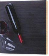 Red Wine Set Wood Print
