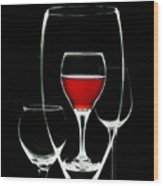 Glass Of Wine In Glass Wood Print