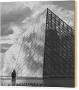 Glass Pyramid. Louvre. Paris.  Wood Print by Bernard Jaubert