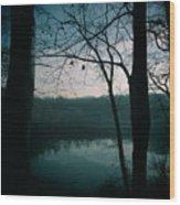Glass River Wood Print
