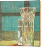 Glass Vase - Still Life Wood Print