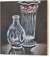Glass Vases-still Life Wood Print