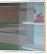 Glass Water Plastic Flutes Wood Print