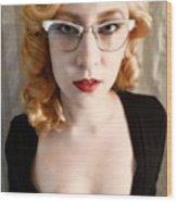 Glasses Wood Print