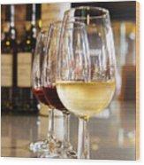 Glasses Of  Port Wine Wood Print