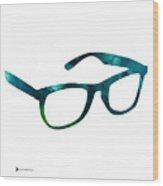 Glasses Silhouette  Watercolor Art Print Poster Wood Print