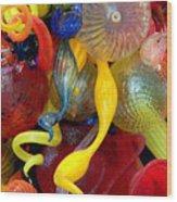 Glassworks Of The Milwaukee Art Museum Wood Print