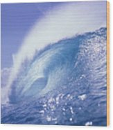 Glassy Wave Wood Print by Vince Cavataio - Printscapes
