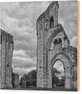 Glastonbury Abbey Wood Print