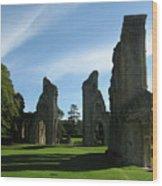 Glastonbury Abbey 3 Wood Print