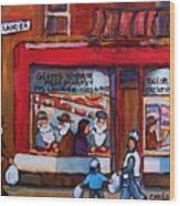 Glatts Kosher Meatmarket And Tailor Shop Wood Print