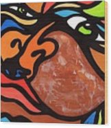 Glaze And Glances Wood Print