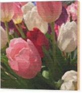 Glazed Tulip Bouquet Wood Print
