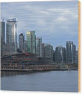 Gleaming Cityscape. Vancouver At Dawn  Wood Print