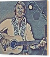 Glen Campbell Abstract Wood Print