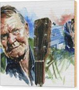 Glen Campbell Wood Print