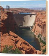 Glen Canyon Dam - Arizona Wood Print