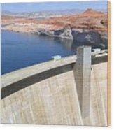 Glen Canyon Dam Wood Print