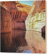 Glen Canyon Reflections Wood Print