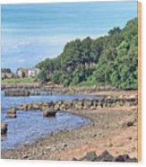 Glen Cove Rocky Beach Wood Print