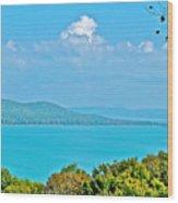 Glen Lake From Pierce Stocking Overlook In Sleeping Bear Dunes National Lakeshore-michigan Wood Print