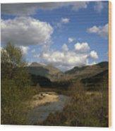 Glen Strontian And The River Strontian Sunart Western Highlands Scotland Wood Print