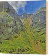 Glencoe Scotland Wood Print