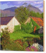 Glencoe Village Wood Print