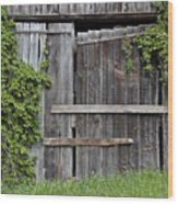 Glengarry Barn Doors Wood Print