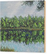 Glenoak Lake Wood Print