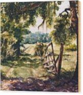Glen's Pasture Wood Print