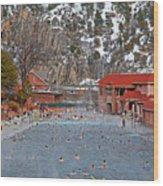 Glenwood Springs Hot Springs In Winter Wood Print